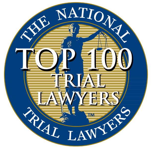 the national trial lawyers top 100 trial lawyers badge icon